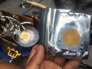 (DP) I replaced my old unusable LED fresnel light COB chip into a new 95 CRI LED CHIP