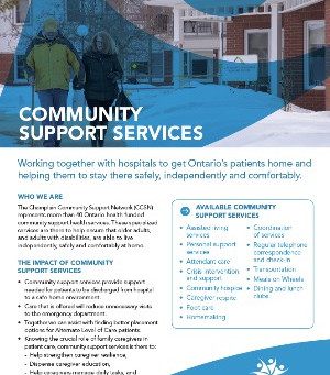 Community Support Service Partner One-Pagers