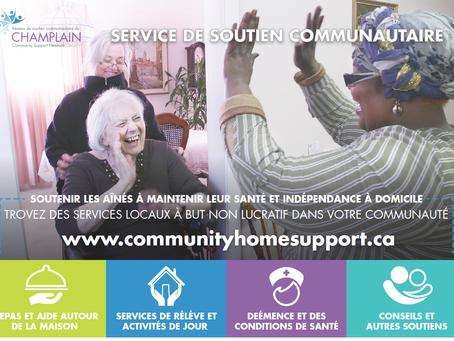Carte postale promotionnelle du service d'aide aux communautés