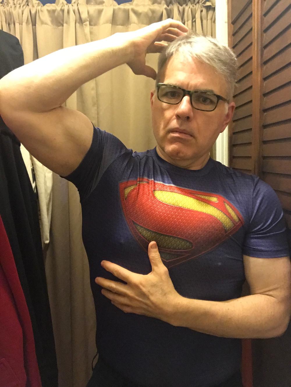 a little bit Clark, a little bit Kal-El :)