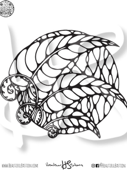 Leaves 8.5x11 Coloring Page