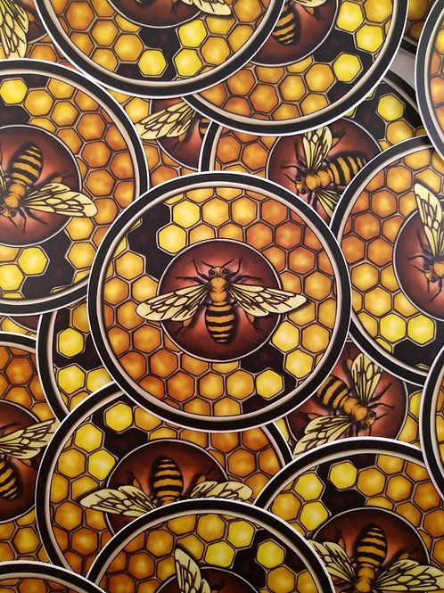 Honeybee Familiar 3x3 Sticker