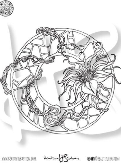 Gnarled Flower 8.5x11 Coloring Page