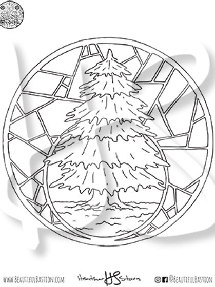 Fir Tree 8.5x11 Coloring Page