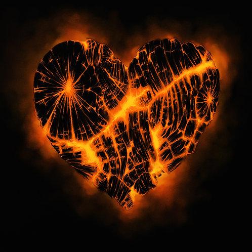 Ember Heart Prints