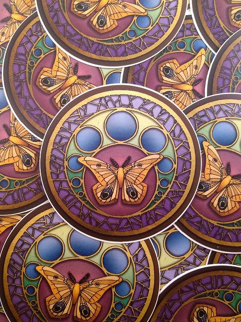 Moth Familiar 3x3 Sticker