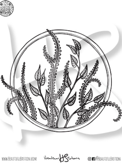 Aquatic Plants 8.5x11 Coloring Page