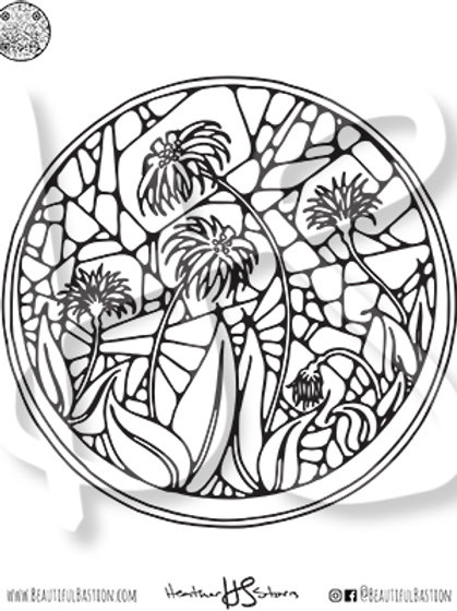 Greenhouse Flowers 8.5x11 Coloring Page