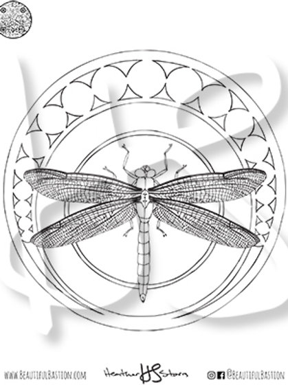 Dragonfly 8.5x11 Coloring Page
