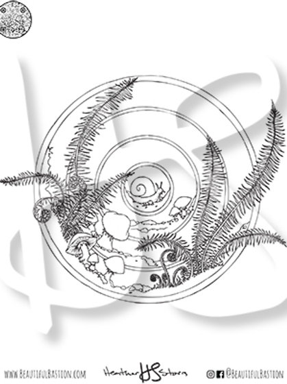 Terrarium 8.5x11 Coloring Page