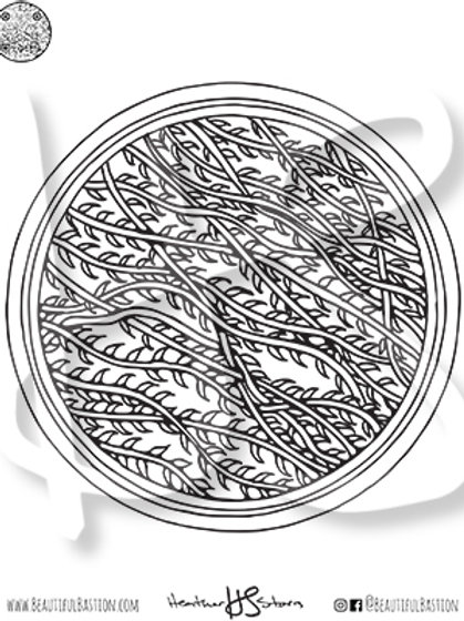 Vines 8.5x11 Coloring Page