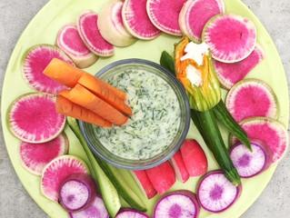 Vegan Dill Yogurt Veggie Dip