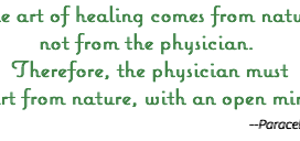 On the Healing Power of Nature....