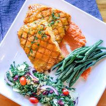 Orange Glazed Grilled Norwegian Salmon Dinner for 2