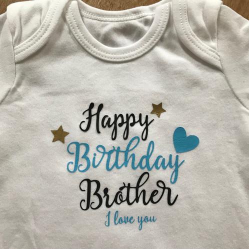 Happy Birthday Daddy I Love You Tshirt Or Body Suit