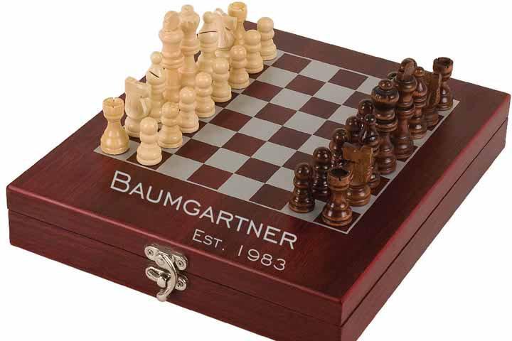 Travel Chess Set - Rosewood Finish Chess Set