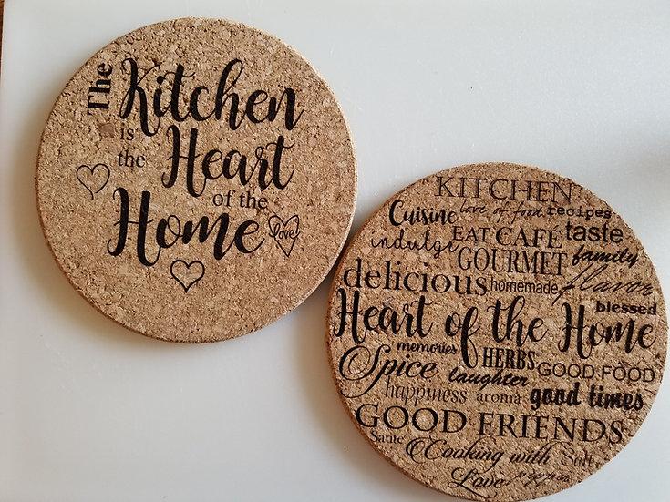 Custom Cork Trivet, Kitchen Accessories, Personalized Trivets, Custom Coasters
