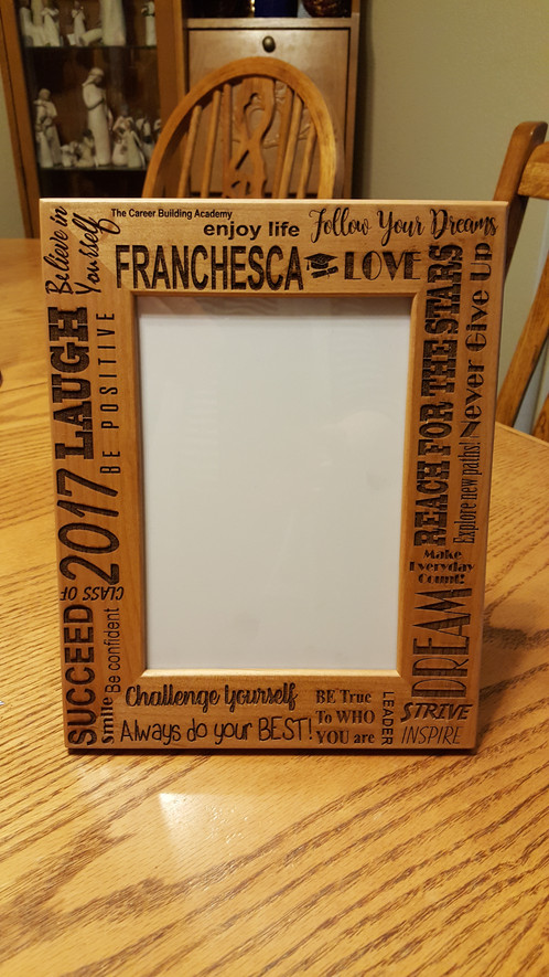 Personalized Wooden Picture Frame | outofthenormdesigns