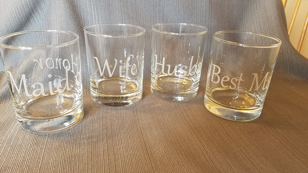 Engraved Wedding Glasses
