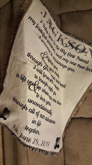 Wedding Vows Keepsake Blanket