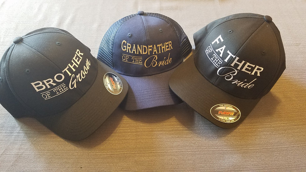 Customized Embroidered Wedding Hats