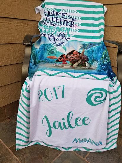 Moana Inspired Beach Towel