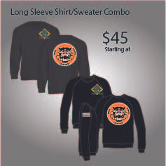 3-61 COMBO LONG SLEEVE SHIRT/SWEATER