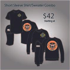 3-61 COMBO SHORT SLEEVE SHIRT/SWEATER
