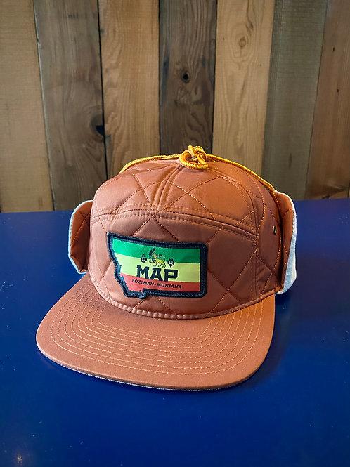 Woody Hat - Rasta (Rust)