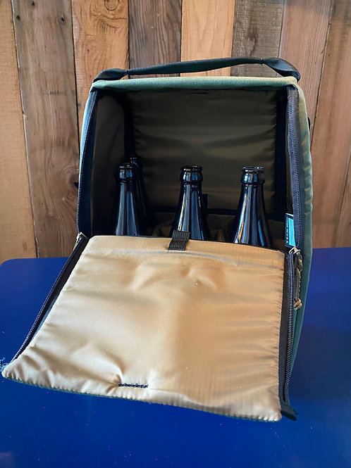 Custom Bottle/Crowler/Growler Bag - 6 pack