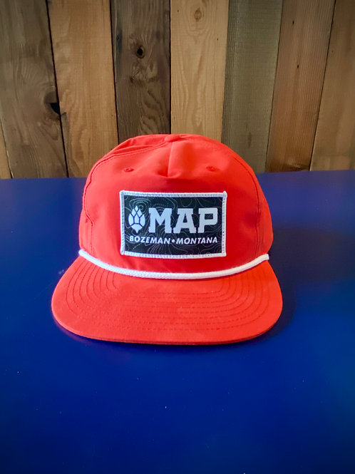 MAP Flatbill hat with SPF - Red