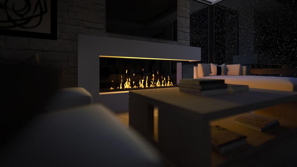 Empire Residences Unit Living Room Night