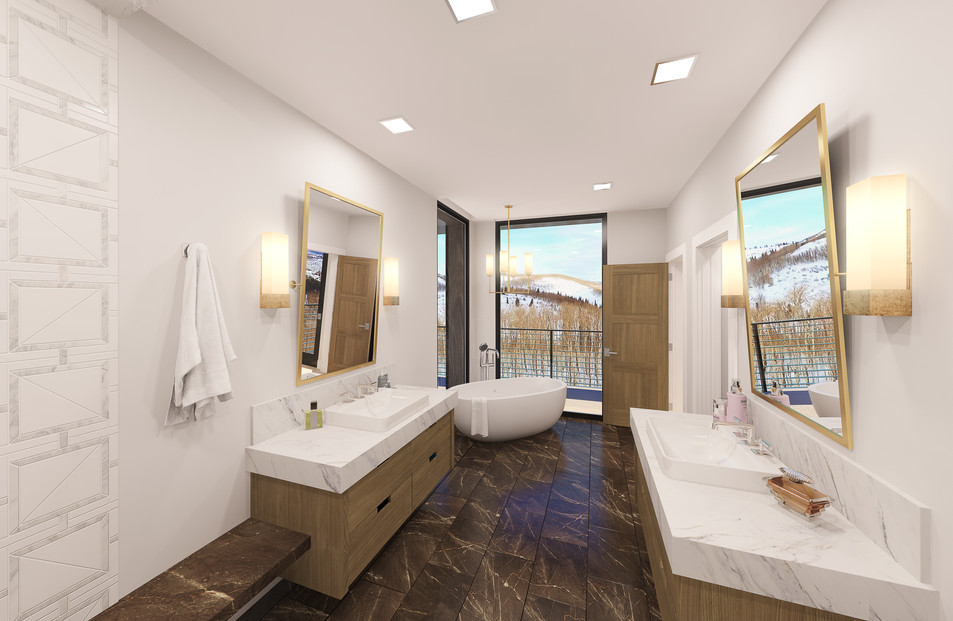 Empire Residences Unit Master Bathroom 0