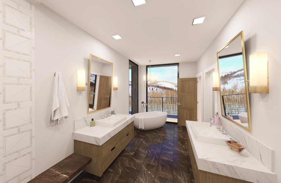 Empire Residences Unit Master Bathroom 0