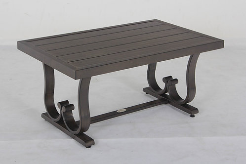 Columbia Aluminum Slatted Top Table