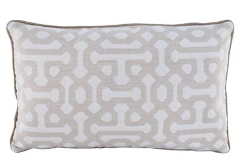 Fretwork Flax Pillow