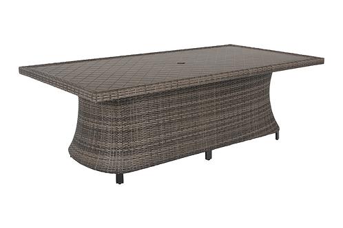 Captiva Isle Aluminum Pattern Top Dining Table