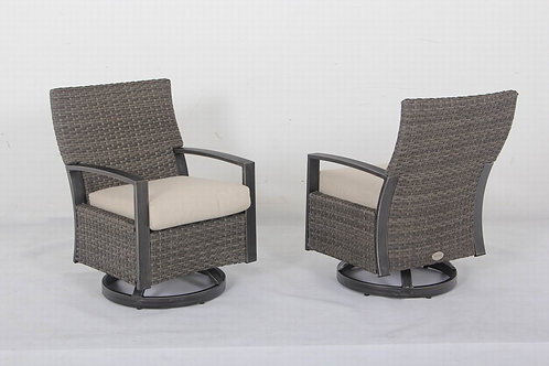 Westbrook Aluminum Swivel Dining Chair