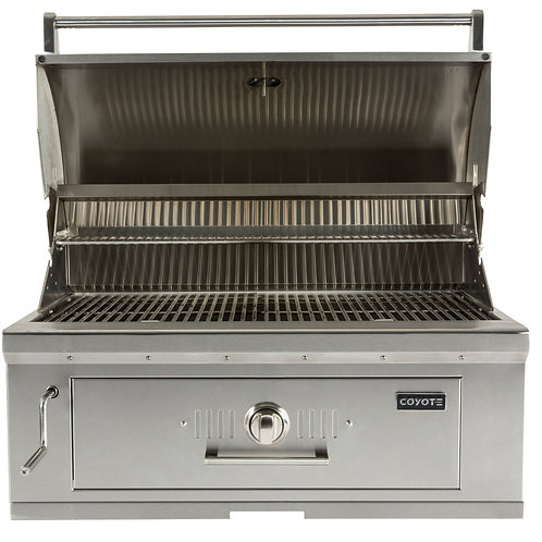 Coyote C-Series Charcoal Grill Built-in