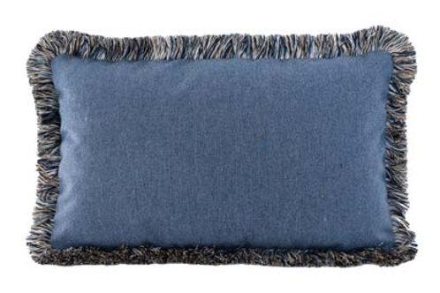 Heritage Denim w/ Fringe Pillow