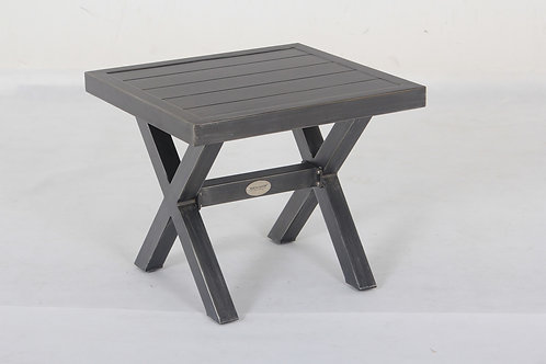 Westbrook Aluminum Slatted End Table