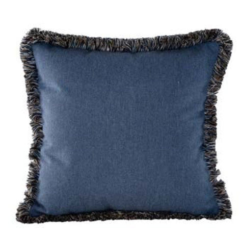 Heritage Denim w/ Fringe Pillow