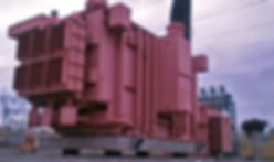 Isolated High Voltage Transformer, isolated using Triple Pendulum™ isolators manufactured by Earthquake Protection Systems