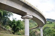 HELICOIDAL BRIDGE, COLOMBIA, view from the side where isolators made by Earthquake Protection Systems are installed