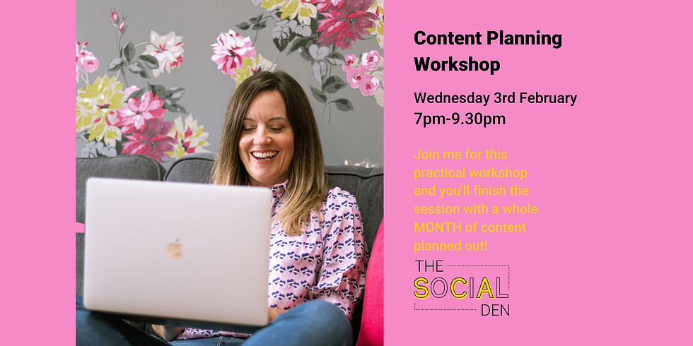 Content Planning Workshop Feb 3rd