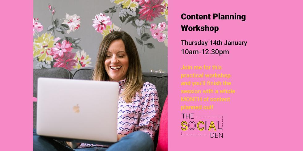 Content Planning Workshop