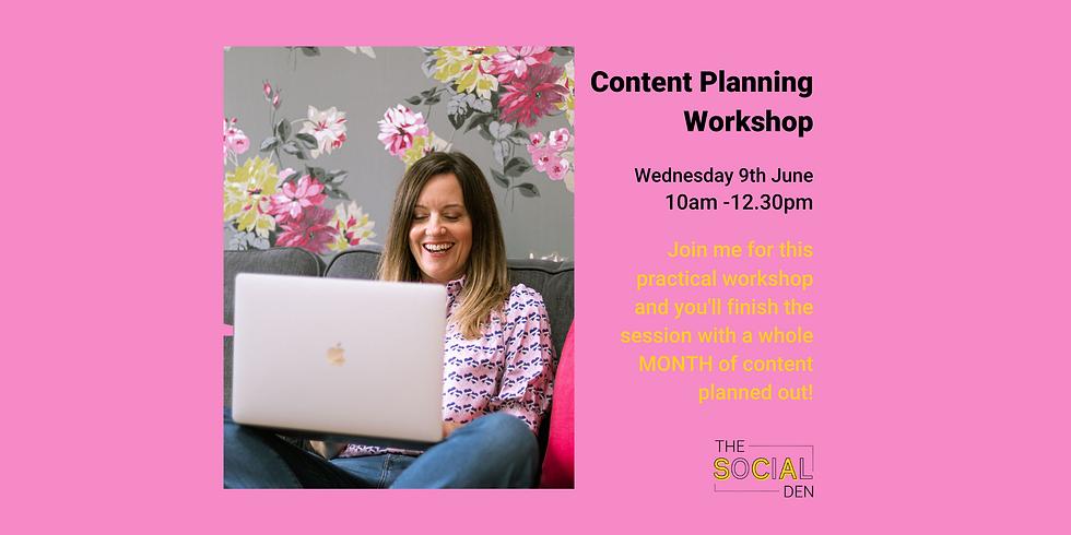 Content Planning Workshop June 9th