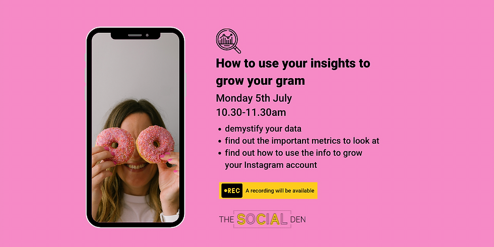 How to use your Insights to grow your gram