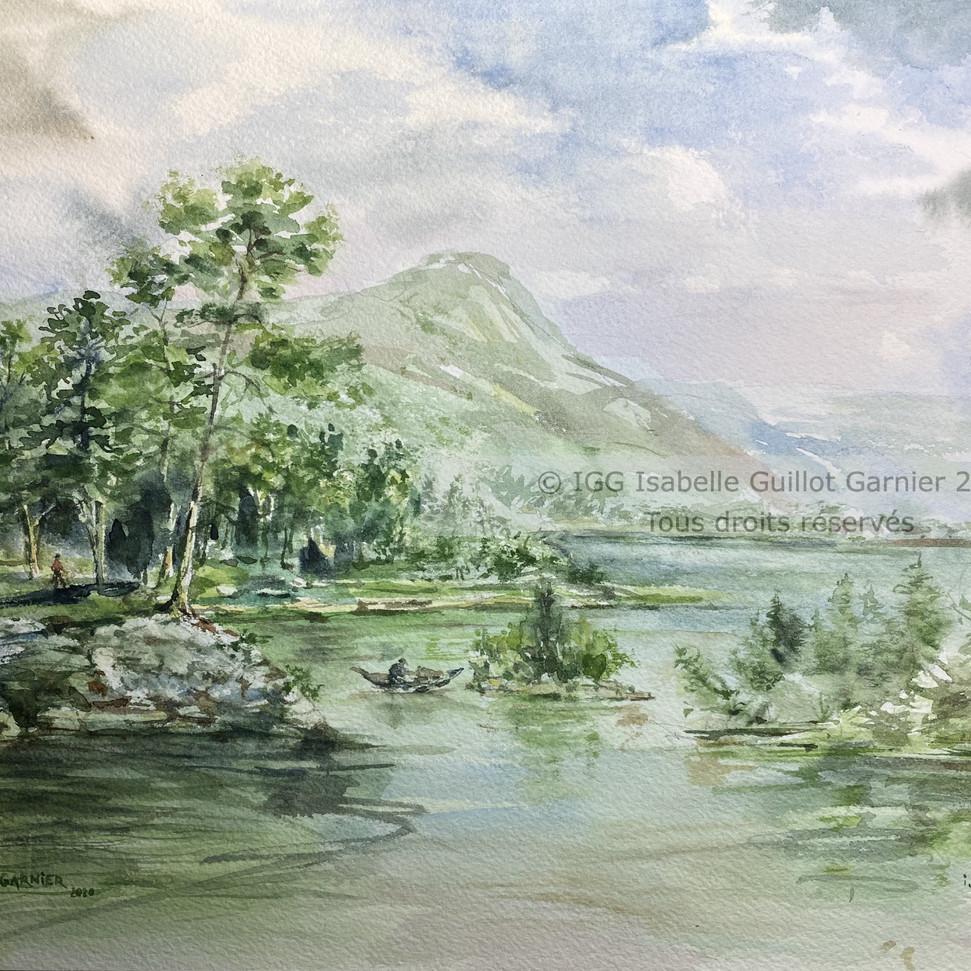 © IGG Aquarelle Au bord du lac 2021