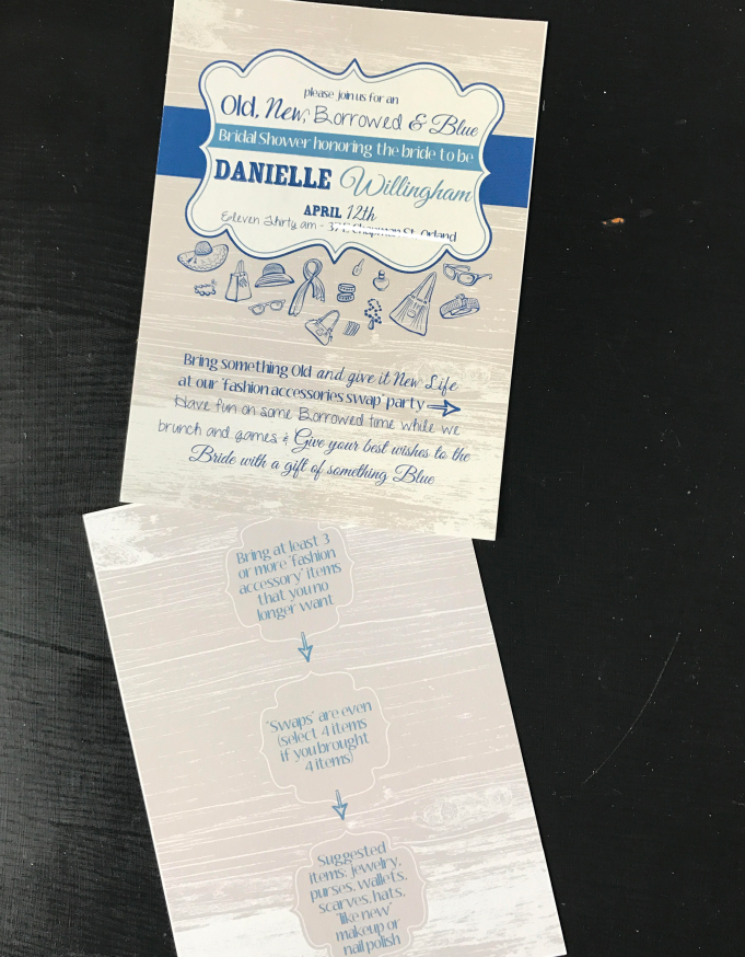 Blue Bridal Shower Invitation